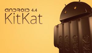 Se muestra el robot logo de Android hecho de chocolate, sobre un fondo amarillo y con su respectivo nombre.