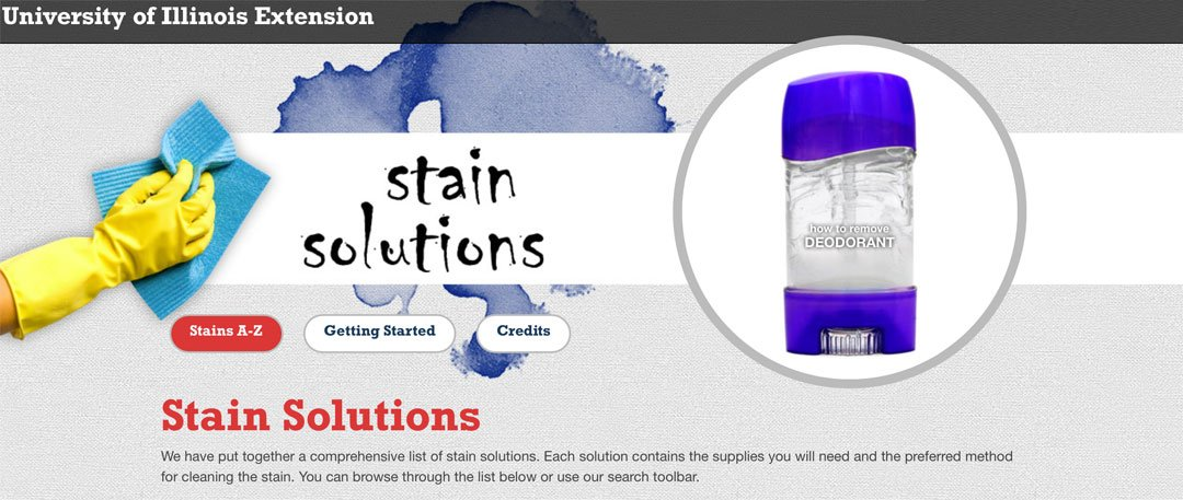 Stain Solutions: para todo tipo de manchas