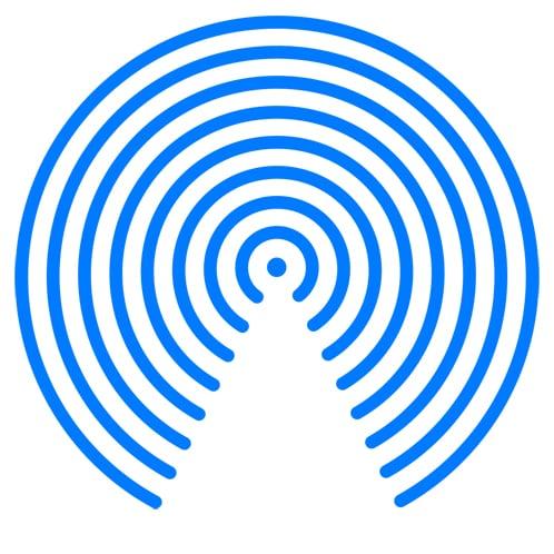 Icono de ondas para USB