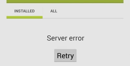 Error de servidor Google Play