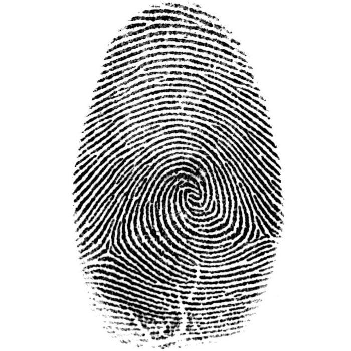 Permítame sus dedos para tomar registro de sus huellas…