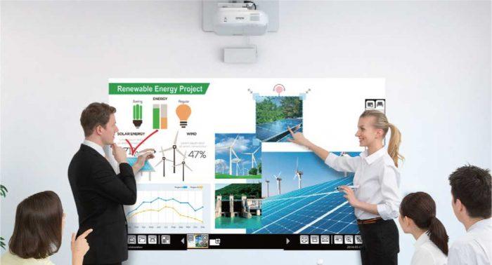 Epson 1430wi: Cómo es un proyector táctil?