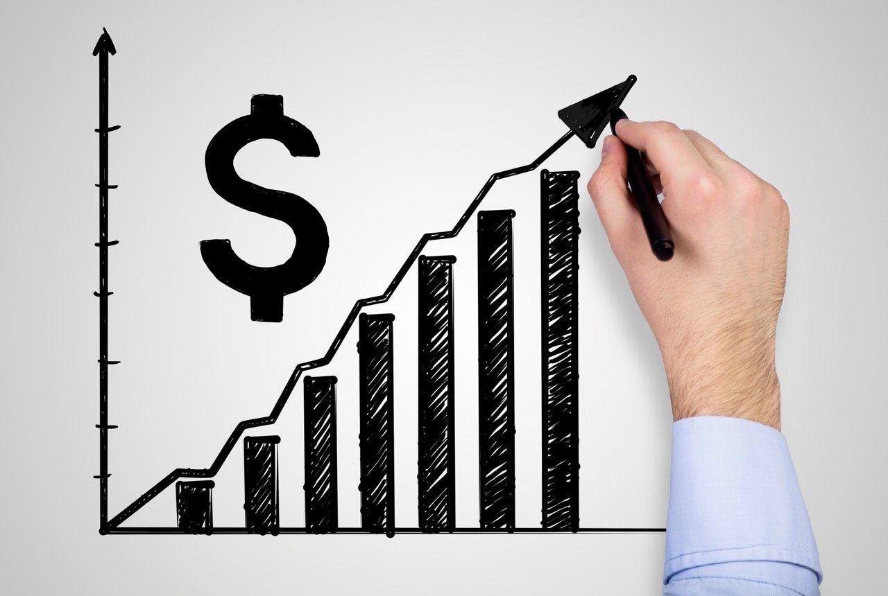 Gráfico de aumento en los precios