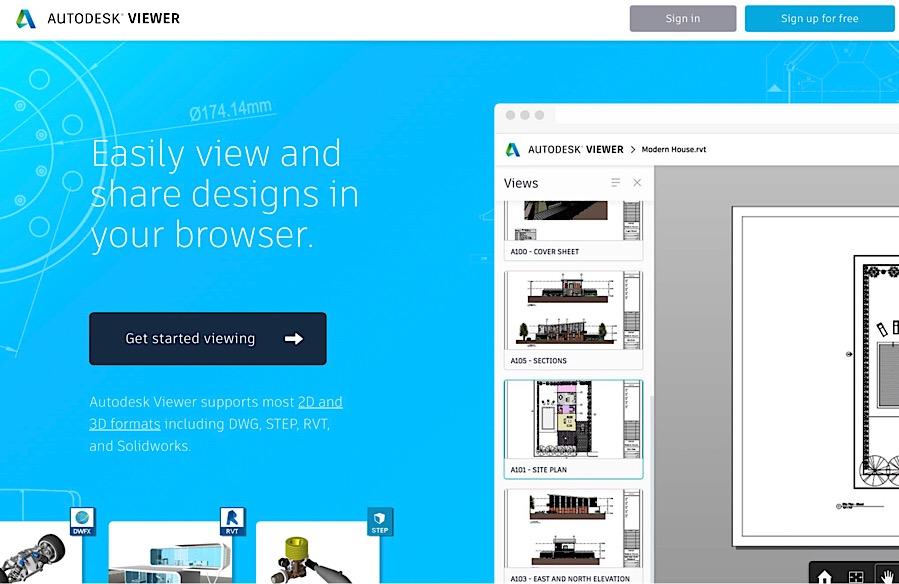 Interfaz de Autodesk Viewer
