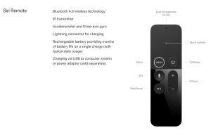 Imagen del control remoto de Apple