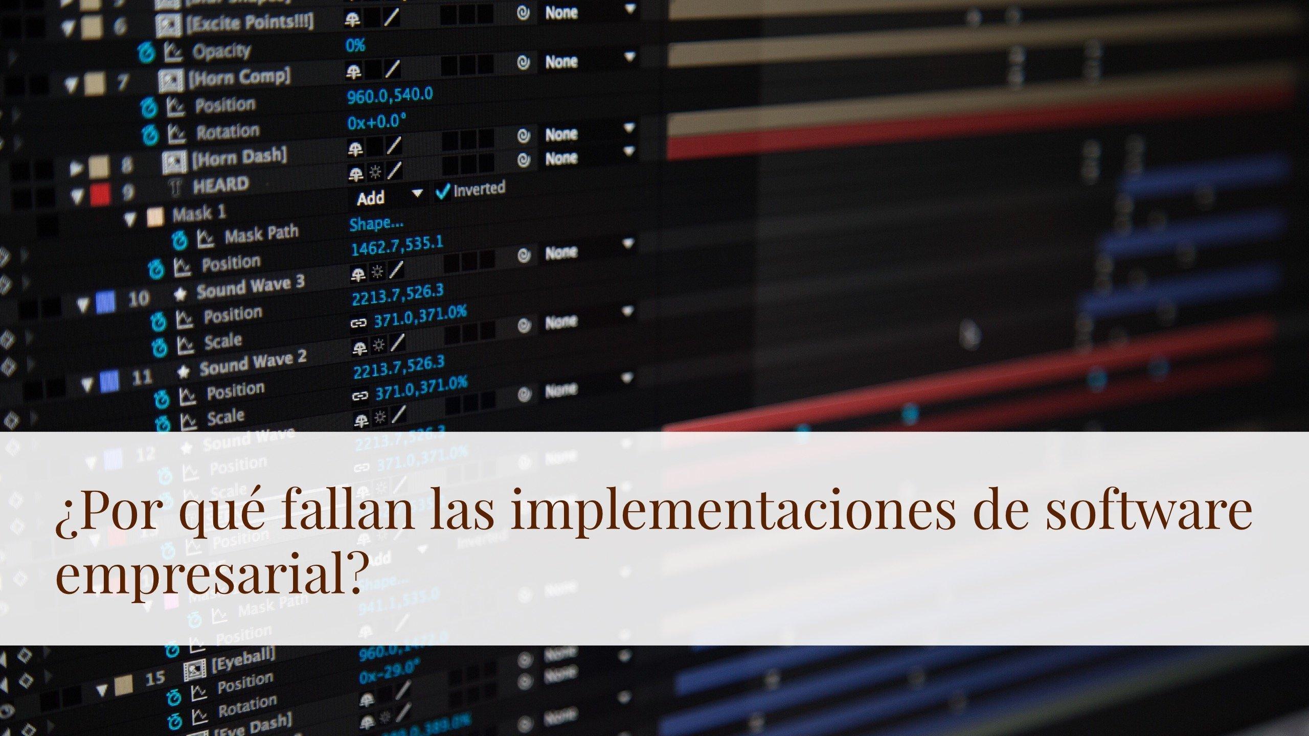 Implementación de software empresarial