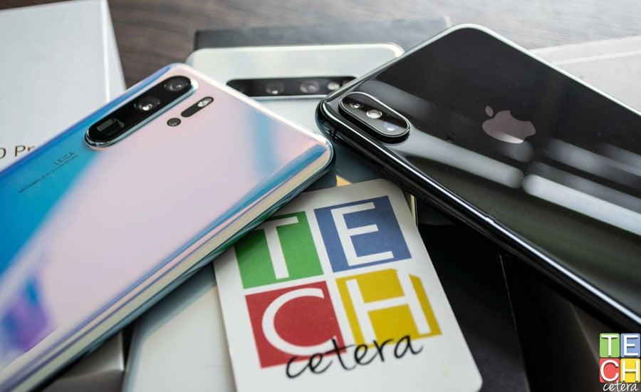 Cámaras del Huawei P30 Pro, iPhone XS Max y Galaxy S10+
