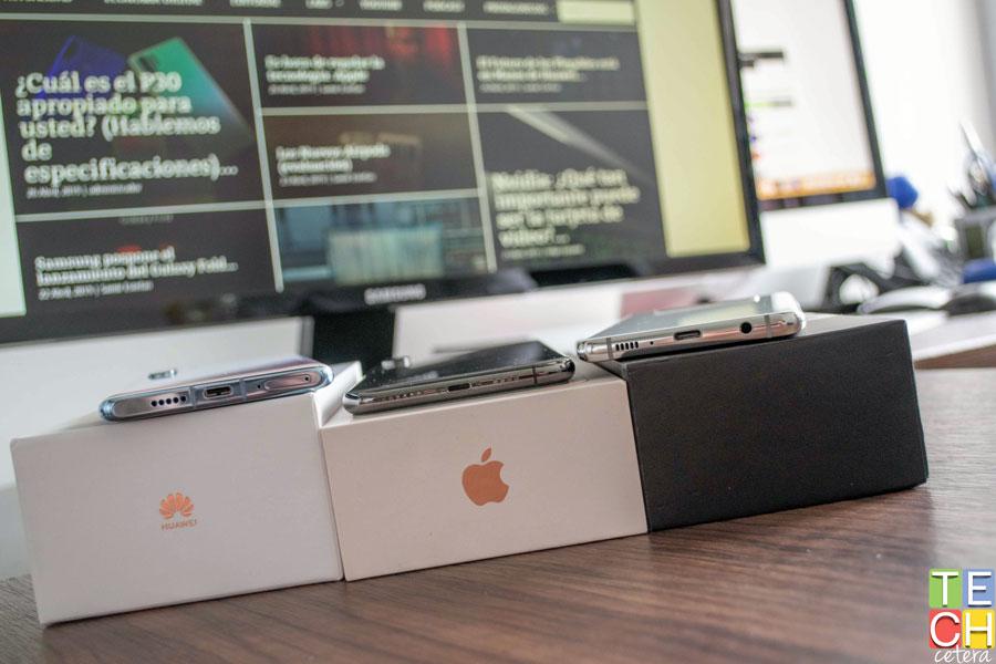 P30 Pro, iPhone XS Max y S10+ fuera de caja