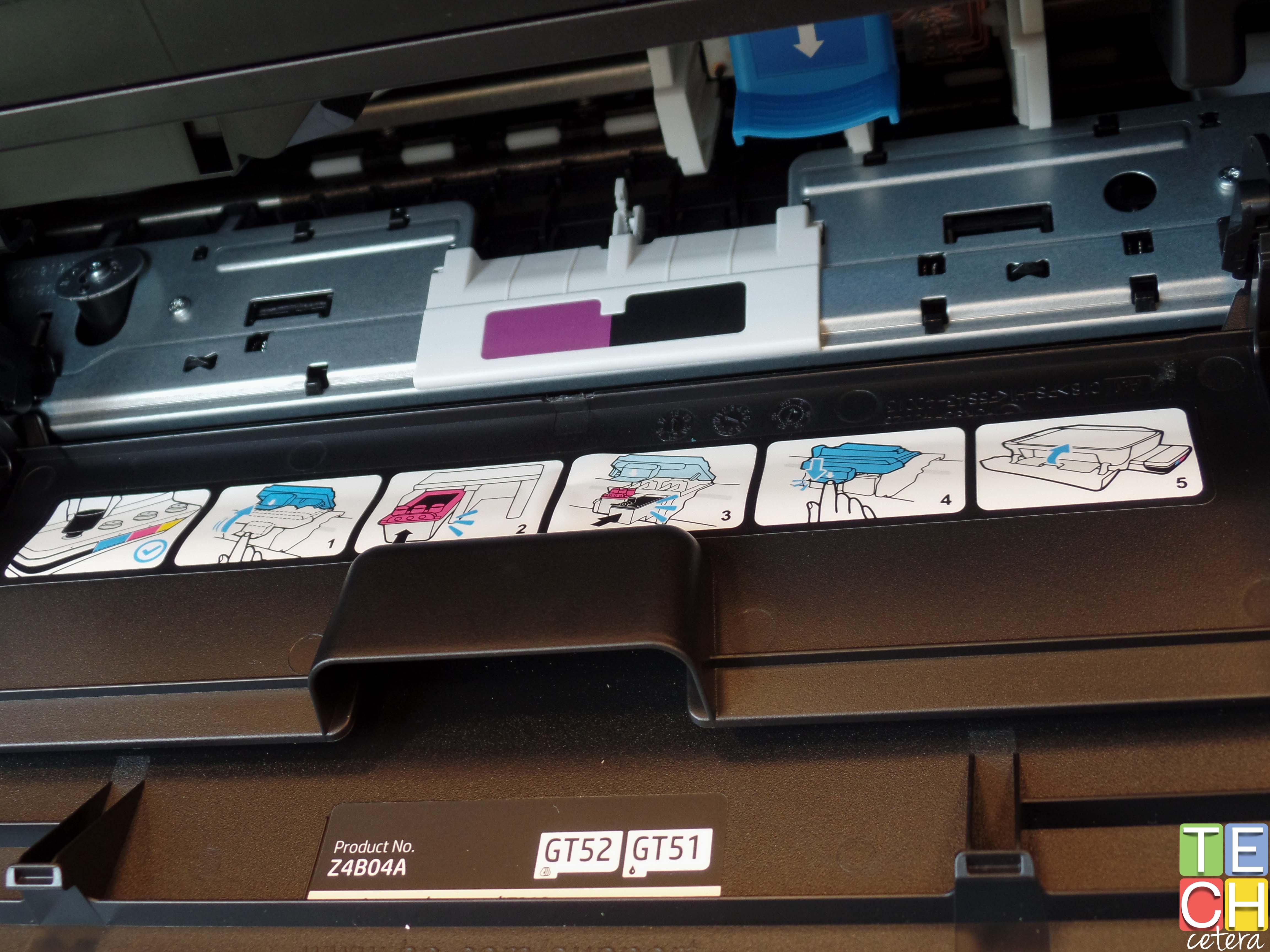 Siga las instrucciones de la impresora