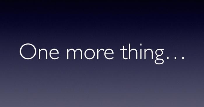 """El """"One More Thing"""" de este año podría no venir de Apple"""