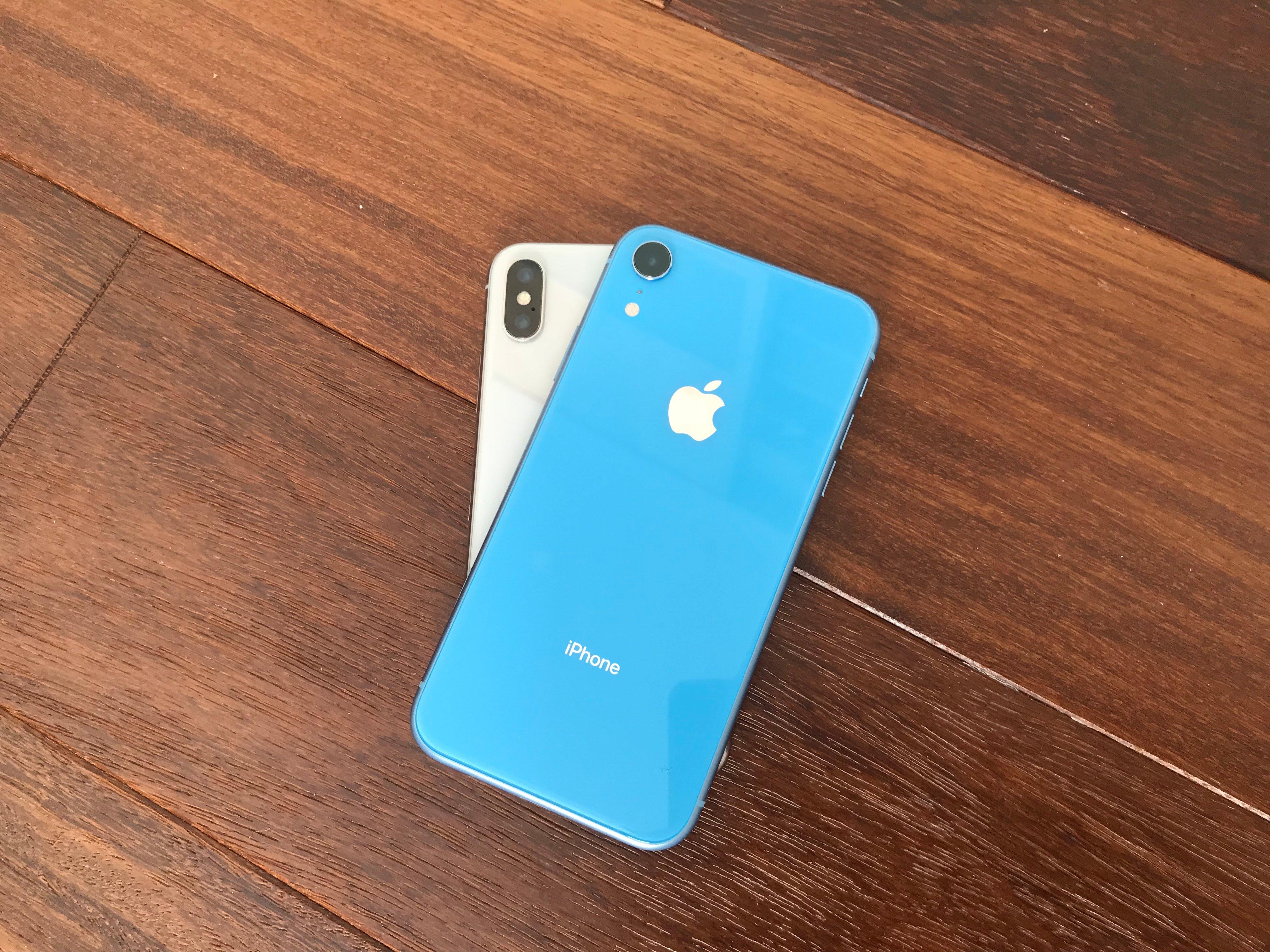 iPhone XR y iPhone X