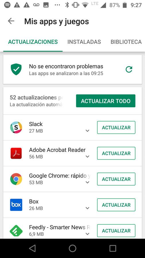 Play Store funcionando