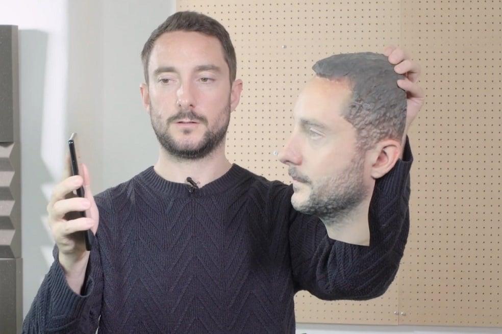 Mascara 3D para engañar el reconocimiento facial de un smartphone