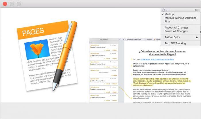 ¿Cómo hacer control de cambios en un documento de Pages?