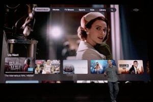 Demostración de la imagen del Apple TV en su lanzamiento