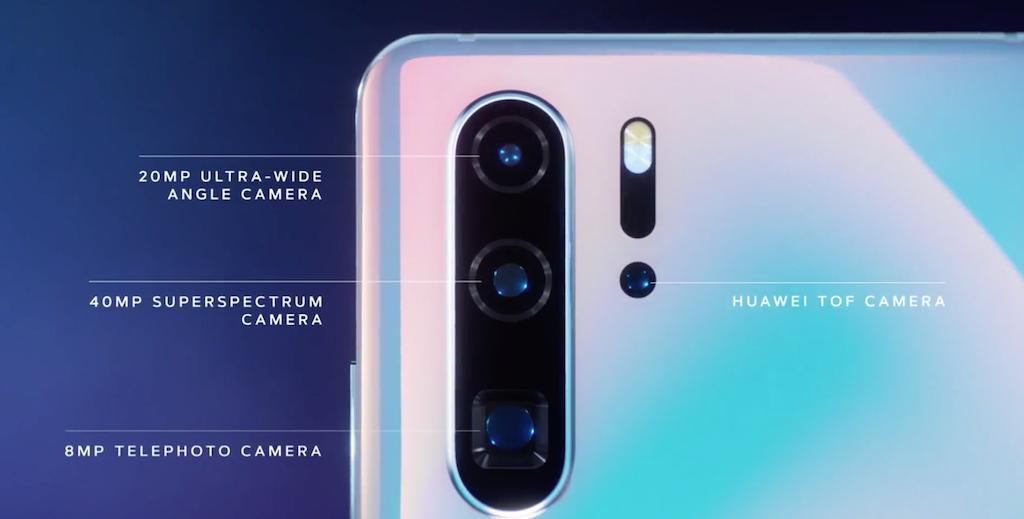 Cámaras señaladas del Huawei P30 Pro