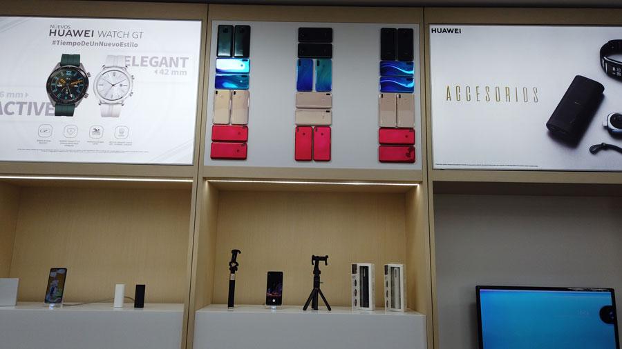 Accesorios presentados en la nueva tienda de Huawei