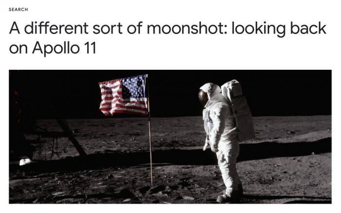 Han pasado 50 años desde la llegada a la luna y Google lo sabe!