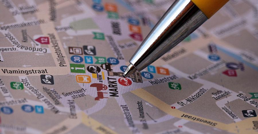 Mapa de mercados objetivo
