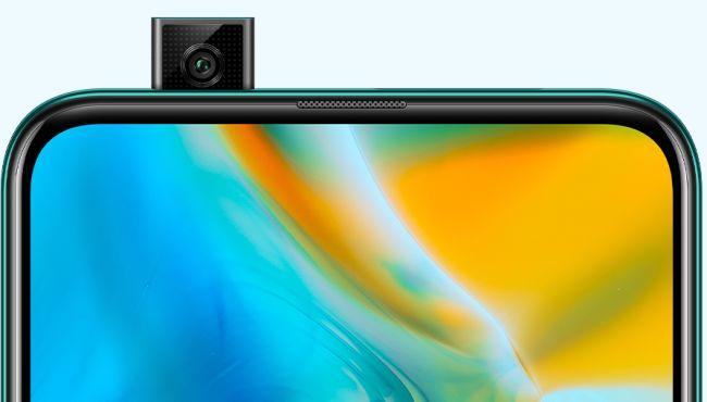 Cámara pop up del Huawei Y9 Prime desplegada