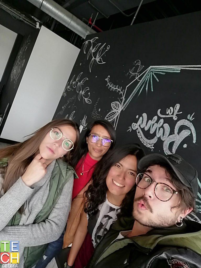 Selfie grupal con el Huawei Y9 Prime 2019