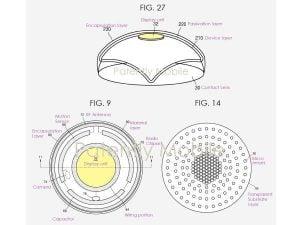 Partes de lo que sería un lente de contacto inteligente.
