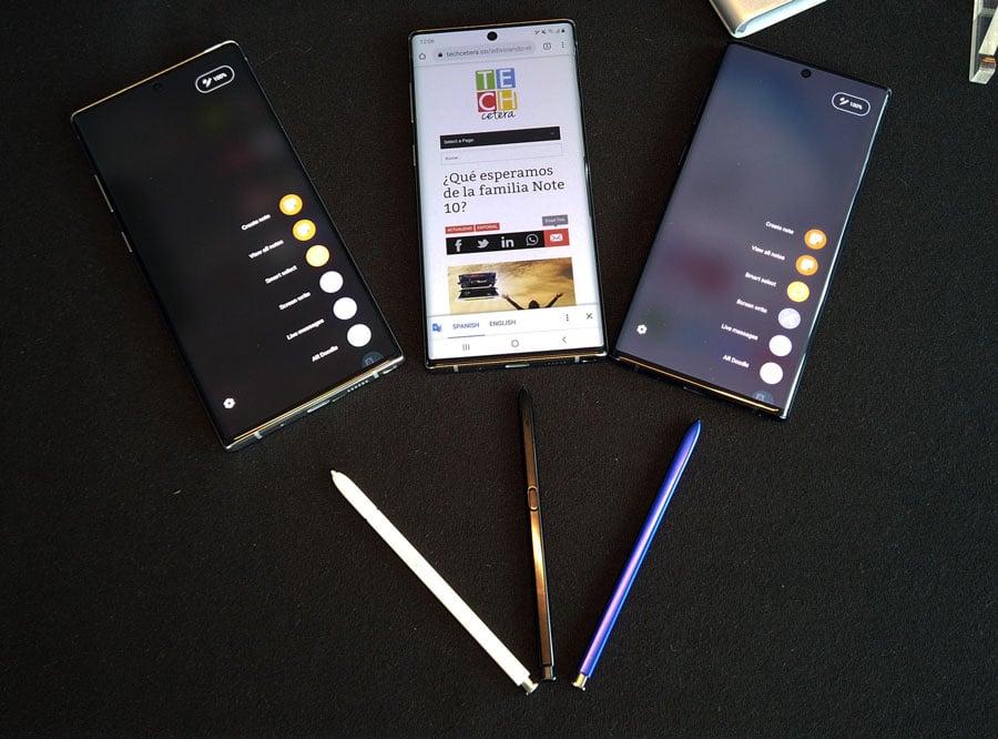 Terminales Note 10 con sus nuevos S-Pen