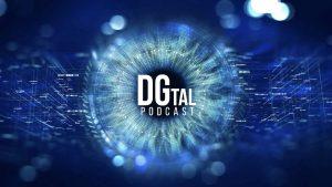 Poster azul de DGtal, Podcasts de tecnología