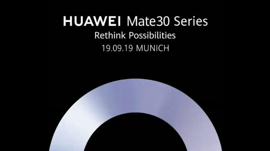 Anuncio de los Huawei Mate30 Series