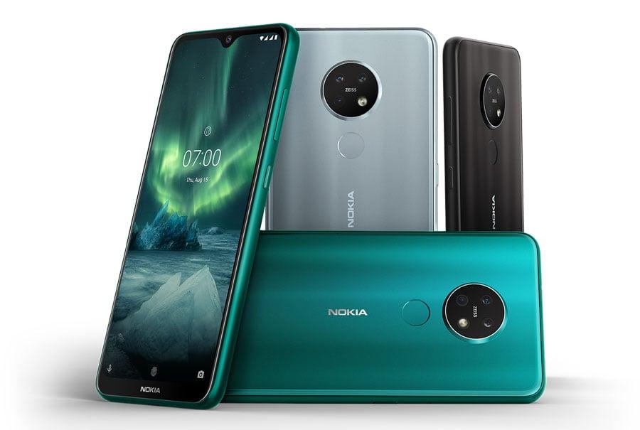 Colores y acabados del Nokia 7.2