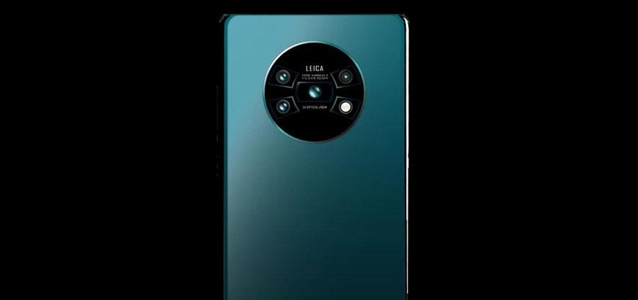 Posible configuración y distribuición de cámaras del Mate 30
