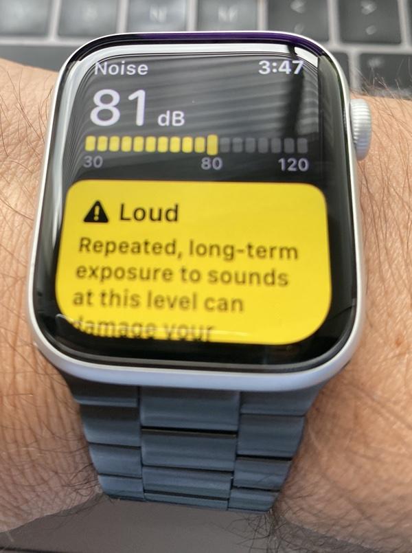Apple watch Serie 5 ahora incorpora medición de ruido ambiente