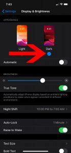 Activar modo oscuro Instagram en iOS 13