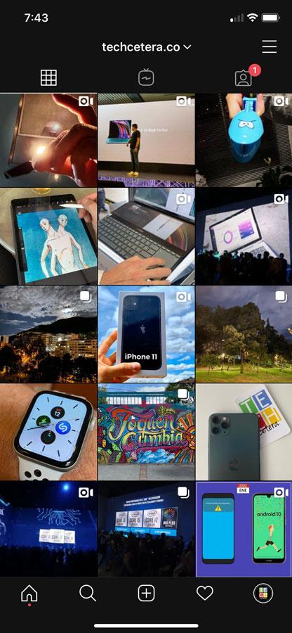 Así se ve el modo oscuro de Instagram en iOS 13