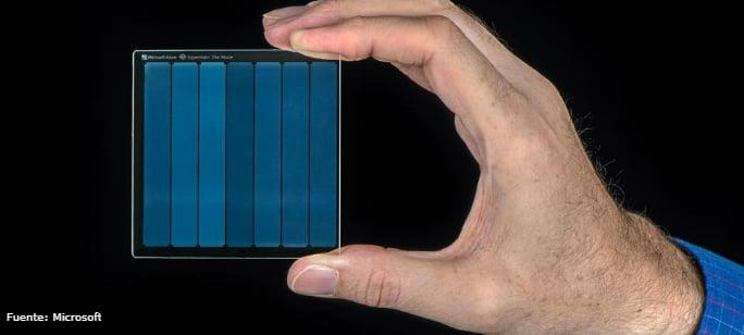 Almacenamiento en cristal de cuarzo desarrollado por Microsoft
