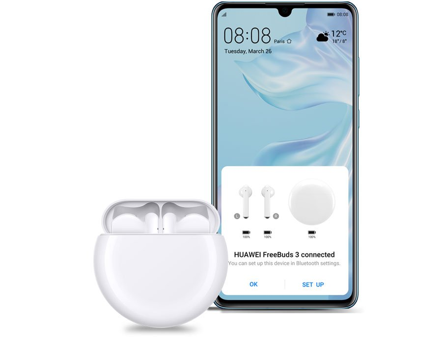 Interfaz para emparentar los FreeBuds 3 con Bluetooth