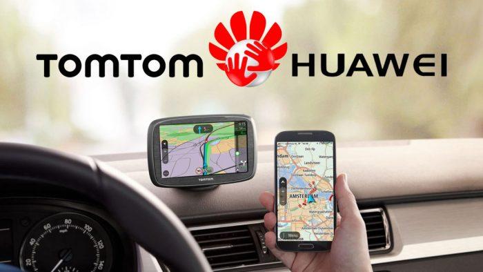App Tomtom de Huawei que reemplazaría a Google Maps.