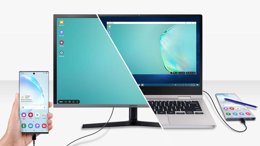 Vista ejemplo del DEX conectado al PC o Mac