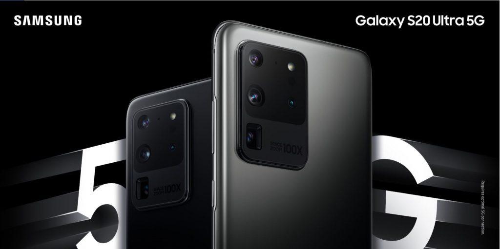 Smartphone negro y gris de Samsung Galaxy S20 Ultra 5G
