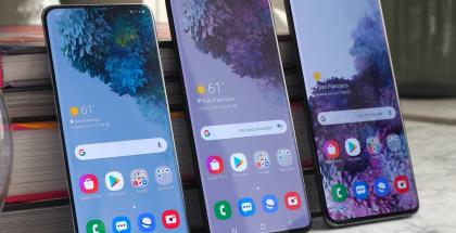 Tamaños e imagen principal en la pantalla de los Galaxy S20