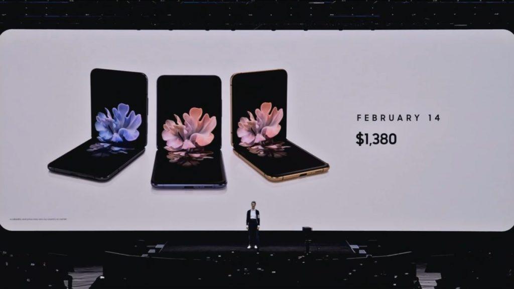 La nueva familia Galaxy S20 son celulares que se doblan a la mitad.