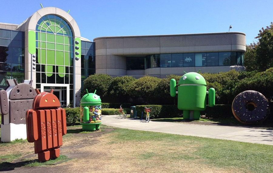 Figuras de Android en Google Plex
