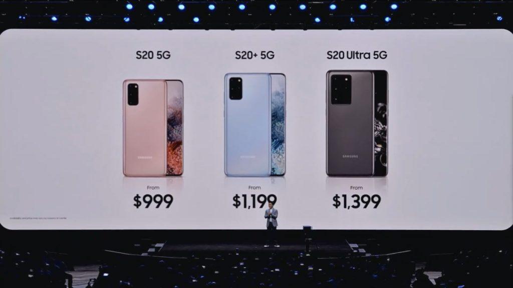 Presentación de familia Galaxy S20