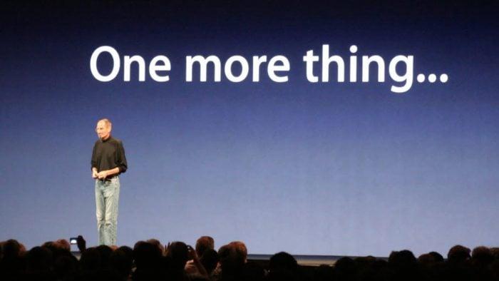 """¿Qué presentó Steve Jobs en sus """"One More Thing""""?"""