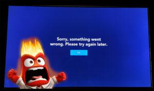 Error de WebOS