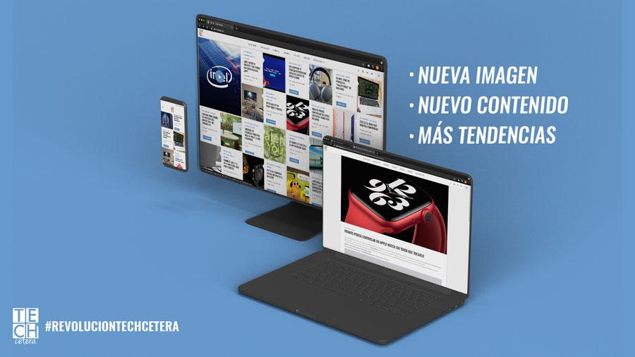 Imagen nuevo sitio de TECHcetera un múltiples pantallas