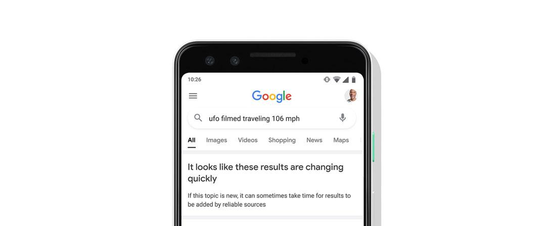 Búsqueda en Google con resultados dudosos