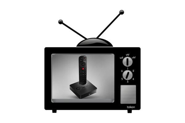 Claro Box TV en TV viejo