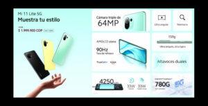Costo y especificaciones del Mi 11 Lite 5G en Colombia