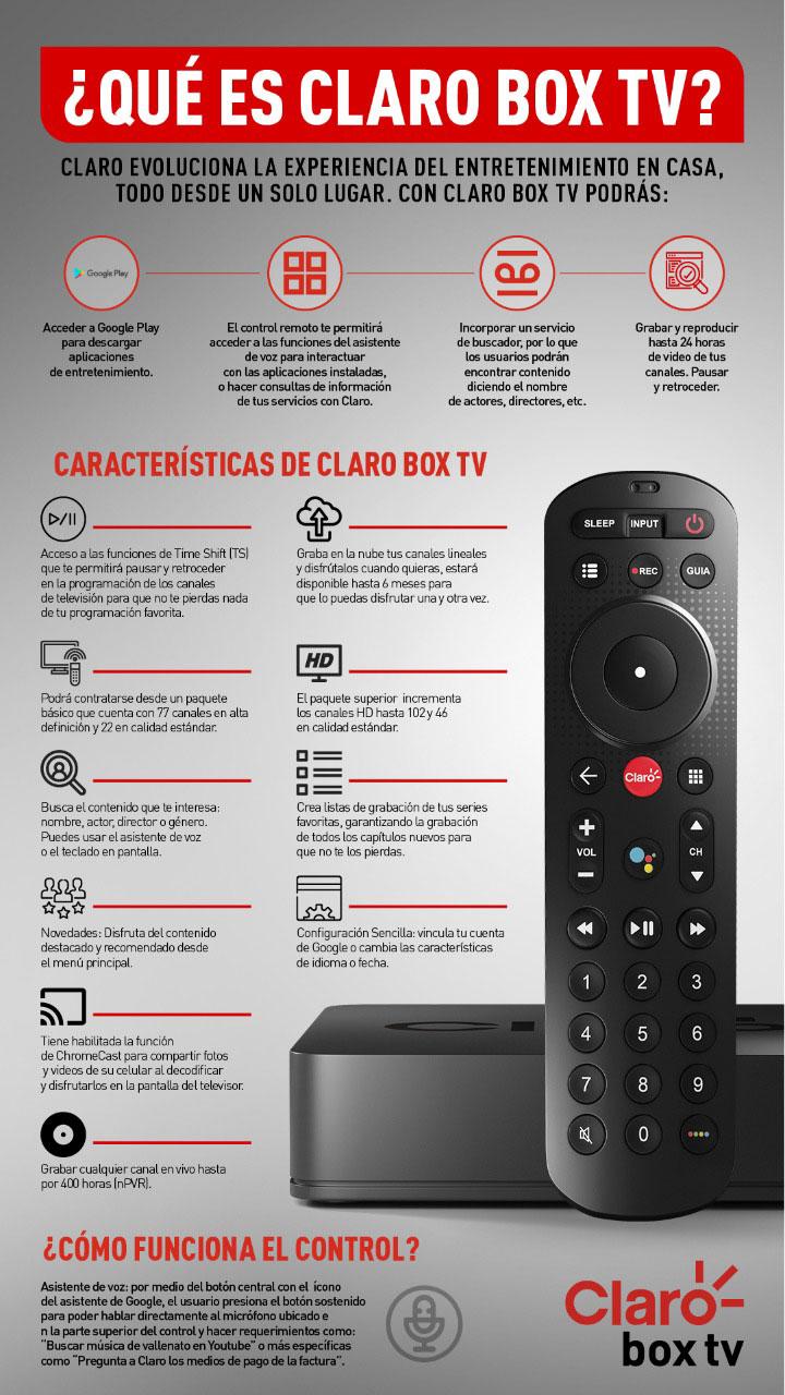 El control de Claro Box TV